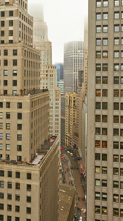 View down Broad Street from 55 Liberty Street, 28th floor