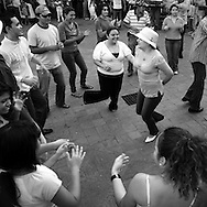 Sunday dancing on the main square in Grenada, Nicaragua