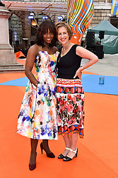 Left to right, Brenda Emmanus and Kirsty Wark at the Royal Academy of Arts Summer Exhibition Preview Party 2017, Burlington House, London England. 7 June 2017.