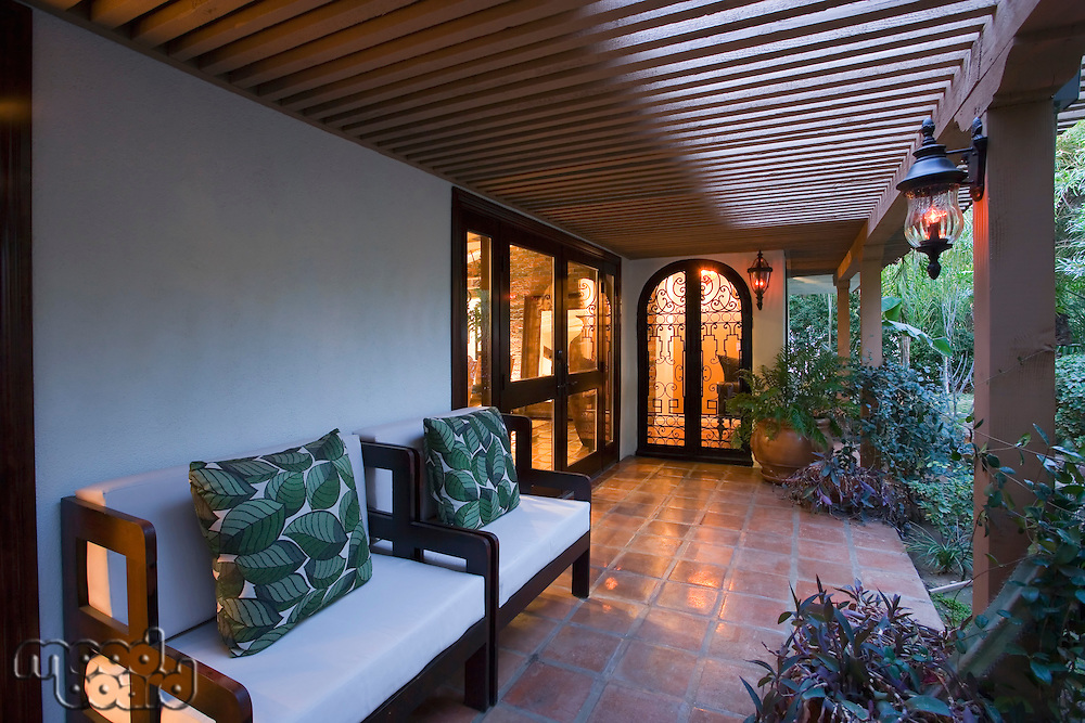 Luxury interior design porch