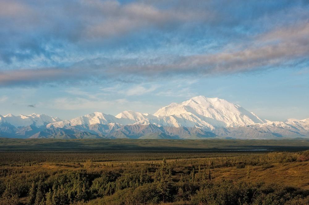 Mt McKinley view from the Ridge above Wonder Lake, Denali National Park, Alaska