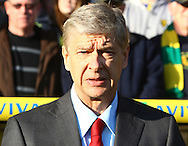 Picture by Paul Chesterton/Focus Images Ltd.  07904 640267.19/11/11.Arsenal Manager Arsene Wenger before the Barclays Premier League match at Carrow Road stadium, Norwich.