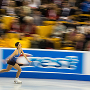 Mirai Nagasu competes in the championship ladies short program at the 2014 US Figure Skating Championships at TD Garden in Boston, MA, on January 9, 2014.