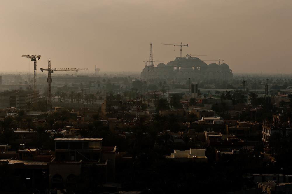 A view of the unfinished Al Rahman Mosque in Baghdad's Mansour district, one of two enormous mosque projects that were initiated by Saddam Hussein.