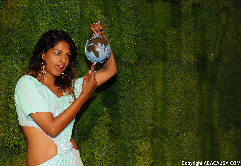 Singer M.I.A. poses at the 40th Annual Party In The Garden at the Museum of Modern Art in New York City, USA on June 10, 2008.