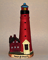 Ponce de Leon Lighthouse - Ceramic Replica. Image taken with a Nikon D700 camera and 28-300 mm VR lens (ISO 800, 44 mm, f/11, 1/60 sec, pop-up flash +1 EV)
