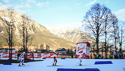 19.12.2015, Nordische Arena, Ramsau, AUT, FIS Weltcup Nordische Kombination, Langlauf, im Bild v. l: Adam Loomis (USA), Paul Gerstgraser (AUT), Taylor Fletcher (USA) // Adam Loomis of the United States of America, Paul Gerstgraser of Austria, Taylor Fletcher of the United States of Ameria during Cross Country Competition of FIS Nordic Combined World Cup, at the Nordic Arena in Ramsau, Austria on 2015/12/19. EXPA Pictures © 2015, PhotoCredit: EXPA/ Martin Huber
