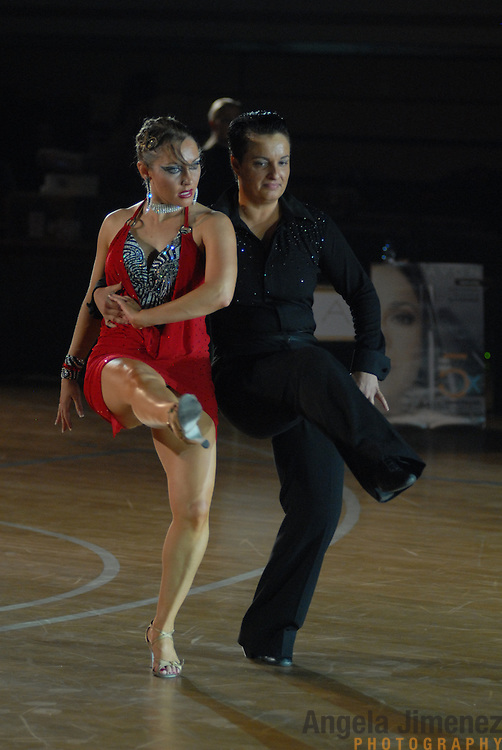 October 21, 2006..same-sex ballroom dance couples compete in the 1st Csardas Cup 2006 (the first same-sex international championship every held in Eastern Europe) and the 2nd annual World Championship Same Sex Dancing competition at the Korcsarnok arena (umlauit double dot over the o in the name) in Budapest ..