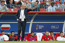 coach Adam Nawalka of Poland during the 2018 FIFA World Cup Russia group H match between Poland and Senegal at the Otkrytiye Arena on June 19, 2018 in Moscow, Russia
