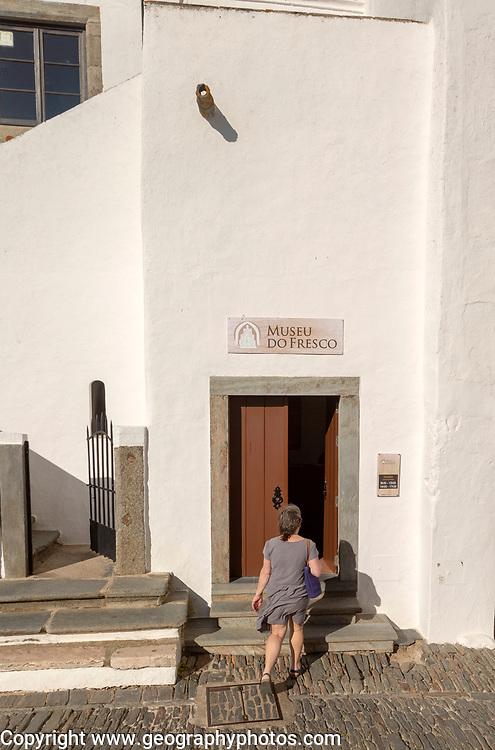 Museum of Frescos, Museo do Fresco, Historic walled hilltop village of Monsaraz, Alto Alentejo, Portugal, southern Europe