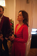 DANIELA AGNELLI, Veronica Moncho Lobo dinner. Argentinian fashion designer hosts i pre-BAFTA dinner with  style editor Sophie Goodwin, to showcase her line of red carpet gowns. Albert Hall Mansions. London. SW7