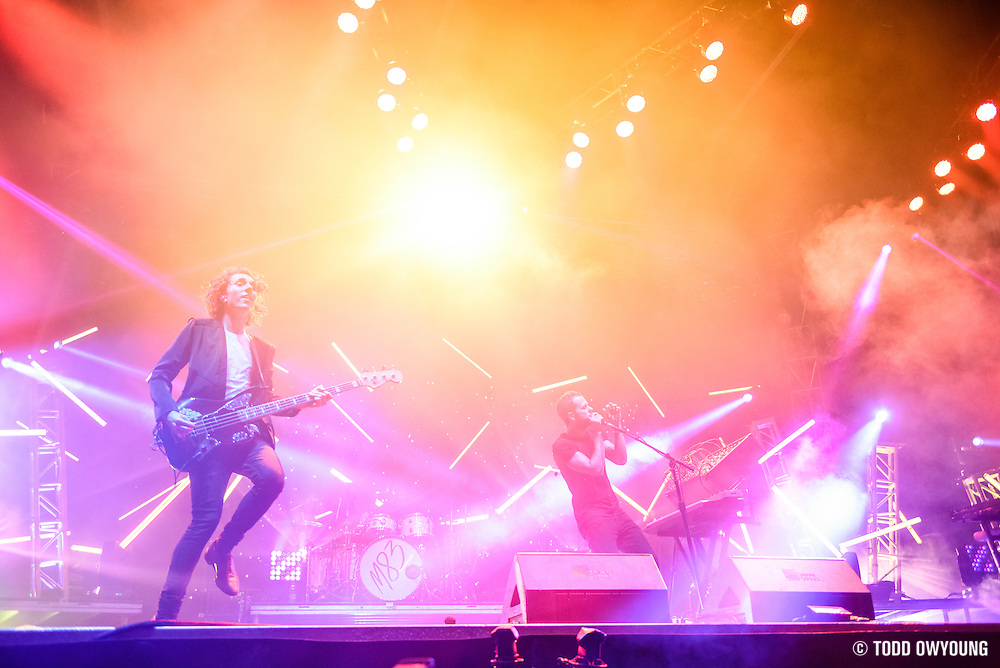 M83 photographed performing at the Governors Ball Music Festival on Randalls Island in New York City on June 4, 2016
