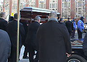 The casket for actor Philip Seymour Hoffman leaves the Frank E. Campbell Funeral Home on the Upper East Side. Hoffman died of a suspected heroin overdose on February 2.<br /> ©exclusivepix