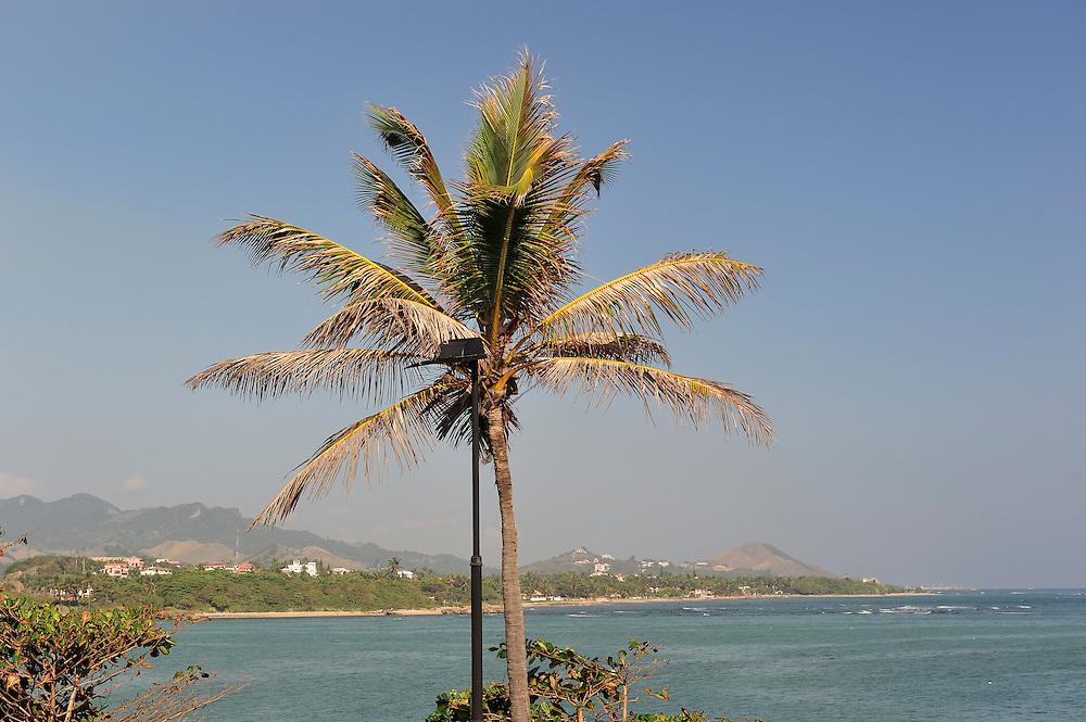 The coast at ,Museo Fortaleza Colonial San Felipel,Puerto Plata, Dominican Republic, Caribbean