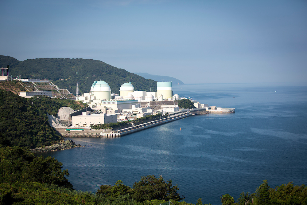 EHIME, JAPAN - AUGUST 11 : Ikata Nuclear Power Plant is seen on August 11, 2016 in Ikata, Ehime prefecture, northwestern Shikoku, Japan. The No. 3 reactor of the nuclear plant is expected to resume operations this week after The Nuclear Regulation Authority (NRA's) has completed it's final inspections of the plant's operational safety measures. The plant has not generated nuclear power since Japan's 2011 nationwide shutdown of all nuclear plants in the aftermath of the Fukushima Daiichi nuclear disaster. Ikata Nuclear Power Plant will be the third nuclear power plant in Japan to become operational. (Photo by Richard Atrero de Guzman/NURPhoto)