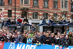 Spectators during the Elite Men's Time Trial on day three of the UCI Road World Championships on September 21, 2011 in Copenhagen, Denmark. (Photo by Marjan Kelner / Sportida Photo Agency)