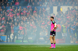 Cardiff Blues Winger (#14) Alex Cuthbert looks on during the first half of the match - Photo mandatory by-line: Rogan Thomson/JMP - Tel: 07966 386802 - 19/10/2013 - SPORT - RUGBY UNION - Cardiff Arms Park, Wales - Cardiff Blues v Toulon - Heineken Cup Round 2.