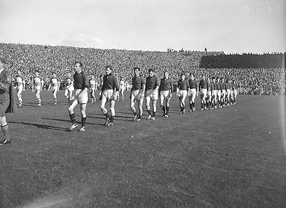 All Ireland Senior Football Championship Final, 24.09.1961, 09.24.1961, 24th September 1961, Down 3-6 Offaly 2-8, 24091961AISFCF,...