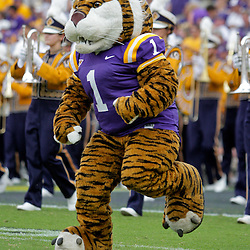 19 September 2009: LSU Tigers mascot Mike The Tiger during a 31-3 win by the LSU Tigers over the University of Louisiana-Lafayette Ragin Cajuns at Tiger Stadium in Baton Rouge, Louisiana.
