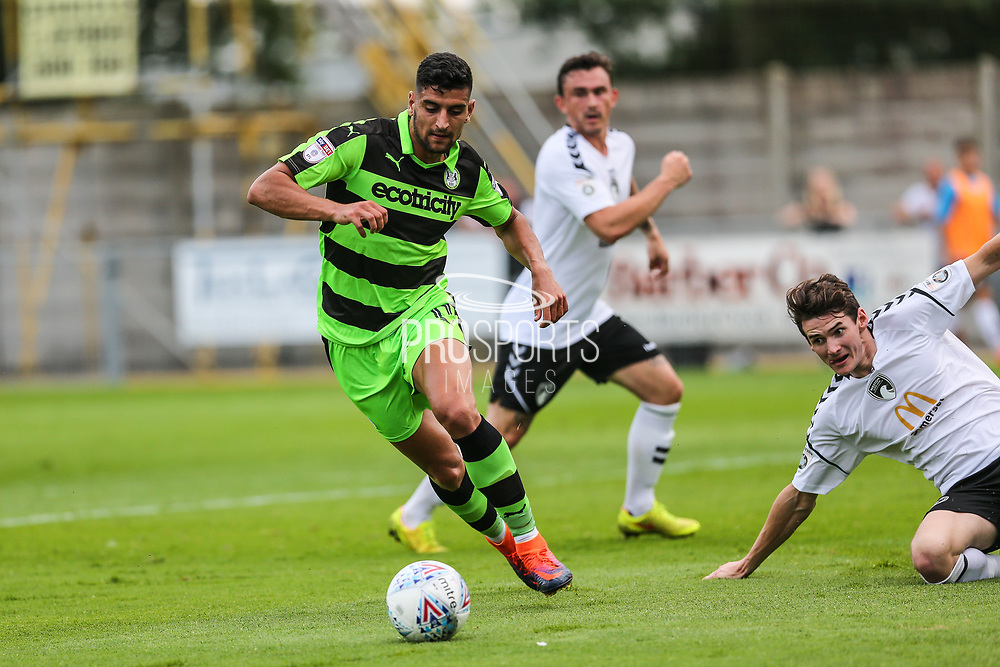 Forest Green Rovers Omar Bugiel(11) runs forward during the Pre-Season Friendly match between Weston Super Mare and Forest Green Rovers at the Woodspring Stadium, Weston Super Mare, United Kingdom on 18 July 2017. Photo by Shane Healey.