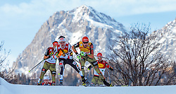 17.12.2016, Nordische Arena, Ramsau, AUT, FIS Weltcup Nordische Kombination, Langlauf, im Bild David Pommer (AUT), Fabian Riessle (GER) // David Pommer of Austria, Fabian Riessle of Germany during Cross Country Competition of FIS Nordic Combined World Cup, at the Nordic Arena in Ramsau, Austria on 2016/12/17. EXPA Pictures © 2016, PhotoCredit: EXPA/ JFK