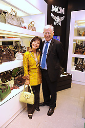 SIR THOMAS & LADY HARRIS at the MCM Christmas party held at their store at 5 Sloane Street, London on 26th November 2008.