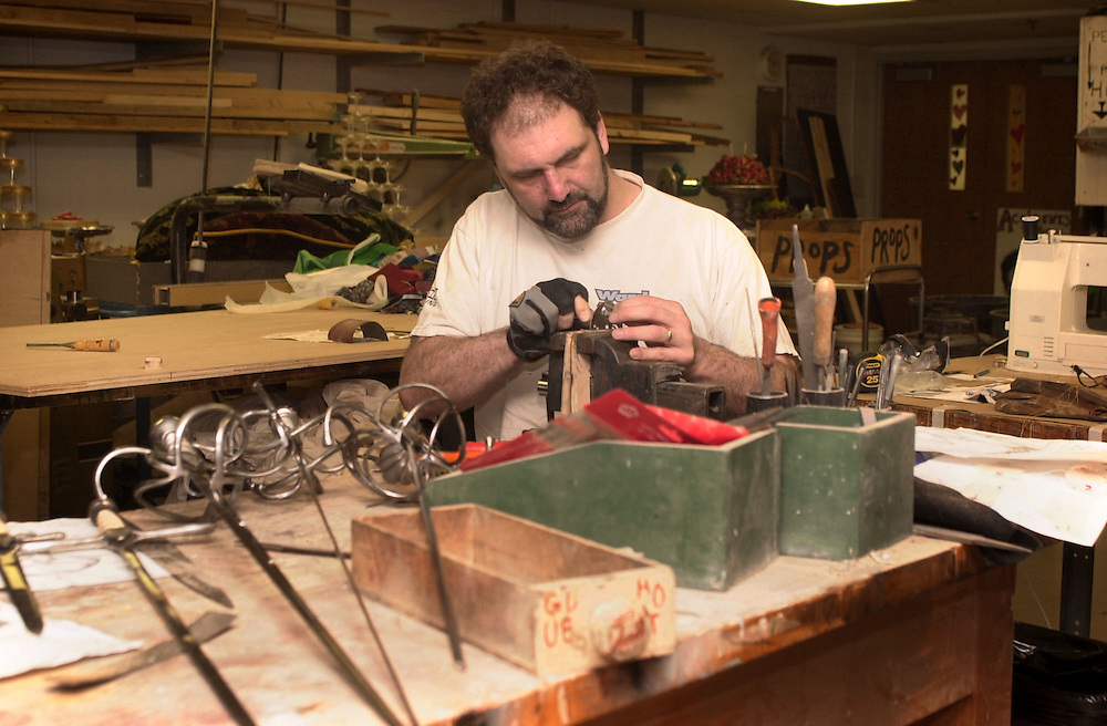 Prop Shop : Tom Fiocchi working
