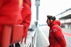 February 19, 2019 - Barcelona, Spain - Mattia Binotto, Italian team principal of Italian team Scuderia Ferrari Mission Winnow walk and watch a job of his driver during Barcelona winter test in Catalunya Circuit in Montmelo, Spain, on February 19, 2019. (Credit Image: © Andrea Diodato/NurPhoto via ZUMA Press)