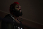 Houston, Texas - February 18, 2016: Dada 5000 waits backstage before the Bellator 149 weigh-ins at the Toyota Center in Houston, Texas on February 18, 2016. (Cooper Neill for ESPN)
