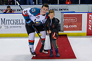 KELOWNA, CANADA - MARCH 13: First Star of the Game Nolan Foote #29 of the Kelowna Rockets at the Kelowna Rockets game on March 13, 2019 at Prospera Place in Kelowna, British Columbia, Canada. (Photo By Cindy Rogers/Nyasa Photography, *** Local Caption ***
