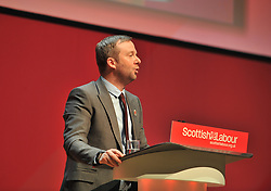 General Secretary of the Scottish Labour Party Brian Roy opens the 2018 Scottish Labour conference at the Caird Hall in Dundee.<br /> <br /> &copy; Dave Johnston / EEm