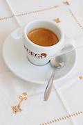Close up of a cup of espresso coffee