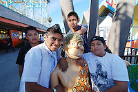 From left, Cristian Diaz, David Jimenez, Javier Jimenez and Jose Tinoco pose for a photograph on a Saturday field trip with the whole group to the Boardwalk in Santa Cruz. STEP UP Mentoring is a weekly, nine-month group program for Monterey County youth ages 11 to 15 years of age. For young people at risk of gang involvement, truancy, or drug use, mentors are positive role models, providing structured and trusting relationships and introducing new ideas and possibilities.