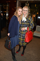 Left to right, DAISY DE VILLENEUVE and her mother JAN DE VILLENEUVE at a VIP evening hosted by Joely Richardson at the Tiffany & Co Christmas Shop, Tiffany & Co Old Bond Street, London on 24th November 2013.