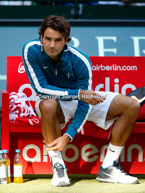 Gerry Weber Open 2010, Halle (Westf.), Tennis, ATP Turnier,  Roger Federer (SUI)..Foto: Juergen Hasenkopf..