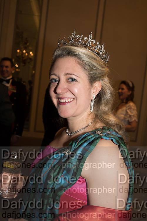 CHAIRMAN, MRS. HOUSTON MORRIS, The Royal Caledonian Ball 2016. Grosvenor House. Park Lane, London. 29 April 2016