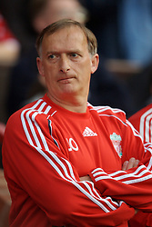 Manchester, England - Thursday, April 26, 2007: Liverpool's coach John Owens lines-up to face Manchester United before the FA Youth Cup Final 2nd Leg at Old Trafford. (Pic by David Rawcliffe/Propaganda)