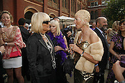 Barbara Hulanicki and Marie Jordan. The Biba Ball in aid of CLIC Sargent. Victoria & Albert Museum, London. 11 May 2006.ONE TIME USE ONLY - DO NOT ARCHIVE  © Copyright Photograph by Dafydd Jones 66 Stockwell Park Rd. London SW9 0DA Tel 020 7733 0108 www.dafjones.com