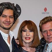 NLD/Amsterdam/20150302 - Uitreiking TV Beelden 2015, Maarten Heijmans, Liesbeth List en Michiel van Erp