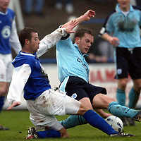 Queen of the South v St Johnstone..  04.02.03<br />John O'Neil and Ian Maxwell<br /><br />Pic by Graeme Hart<br />Copyright Perthshire Picture Agency<br />Tel: 01738 623350 / 07990 594431