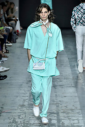 Milan Fashion Week Men's Fashion spring summer 2020. Miguel Vieira fashion show In the Photo: model