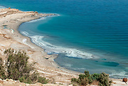 Elevated view of the shore of the Dead Sea, Israel