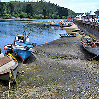 Angelm&oacute; Bay and Tenglo Island in Puerto Montt, Chile<br />