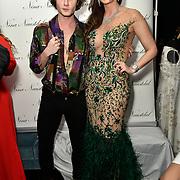 Ben Luke Jones and Nina Naustdal Arrivers at Nina Naustdal catwalk show SS19/20 collection by The London School of Beauty & Make-up at Bagatelle on 26 Feb 2019, London, UK.