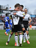 Football - 2019 / 2020 Emirates FA Cup - Third Round: Bristol Rovers vs. Coventry City<br /> <br /> Coventry City's Liam Walsh celebrates scoring his side's equalising goal with Matt Godden (24) to make the score 1-1, at the Memorial Stadium.<br /> <br /> COLORSPORT/ASHLEY WESTERN