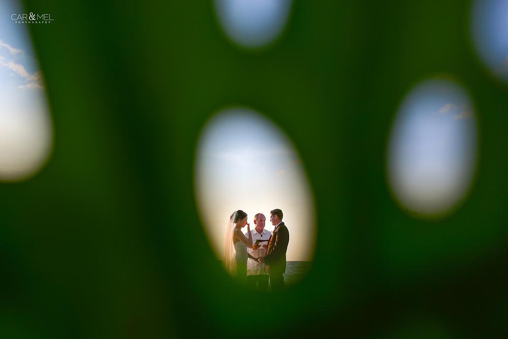 Ali and Joseph's dreamy ceremony at the Four Seasons Resort in Punta Mita, Nayarit. Photo by : Juan Carlos Calderón.