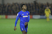 AFC Wimbledon striker Dominic Poleon (10) during the The Emirates FA Cup 1st Round Replay match between AFC Wimbledon and Bury at the Cherry Red Records Stadium, Kingston, England on 15 November 2016. Photo by Stuart Butcher.