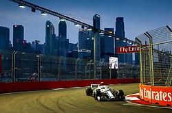 September 15, 2018 - Singapore, Singapore - Motorsports: FIA Formula One World Championship 2018, Grand Prix of Singapore, .#16 Charles Leclerc (MCO, Alfa Romeo Sauber F1 Team) (Credit Image: © Hoch Zwei via ZUMA Wire)