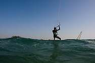 Kite Surfers photos taken from the water