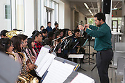 Sharpstown HS school band perfoming at the Grand Opening of new school building.  May 3, 2018.